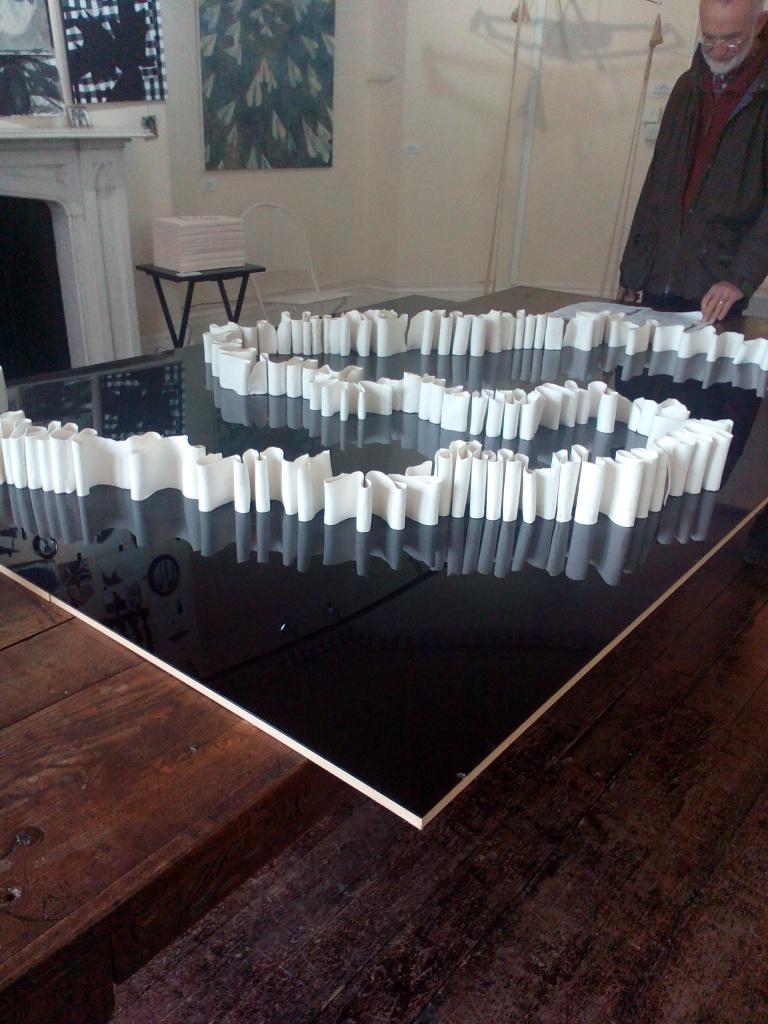 Anthony Lloyd 'Festoon', porcelain at Wells Art Contemporary